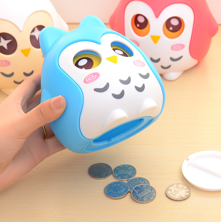 Fashion Novelty the OWL Coin Bank Piggy Bank Money-Box Save Box Coin Saving Box Cute Birthday New Year Christmas Gift Children(China (Mainland))