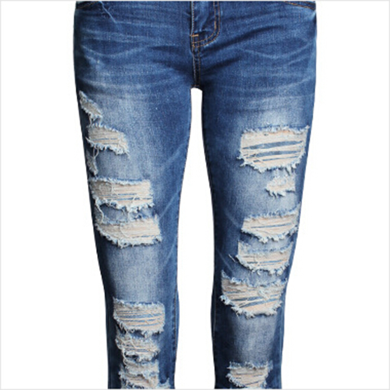Popular Destroyed Ripped Distressed Jeans Women-Buy Cheap ...