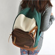 Buy Fashion Canvas Panelled Hit Color Women Men Backpack School Bag Cute Girl Back Pack Lover Schoolbag Travel Casual Bagpack 2016 for $18.49 in AliExpress store