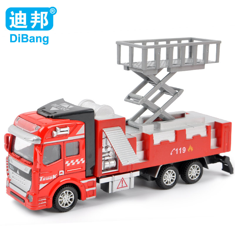 2016 multi-function 1:32 alloy model toy aerial fire truck taxied toy,Baby educational toys Toy Vehicles For Gift Free shipping(China (Mainland))