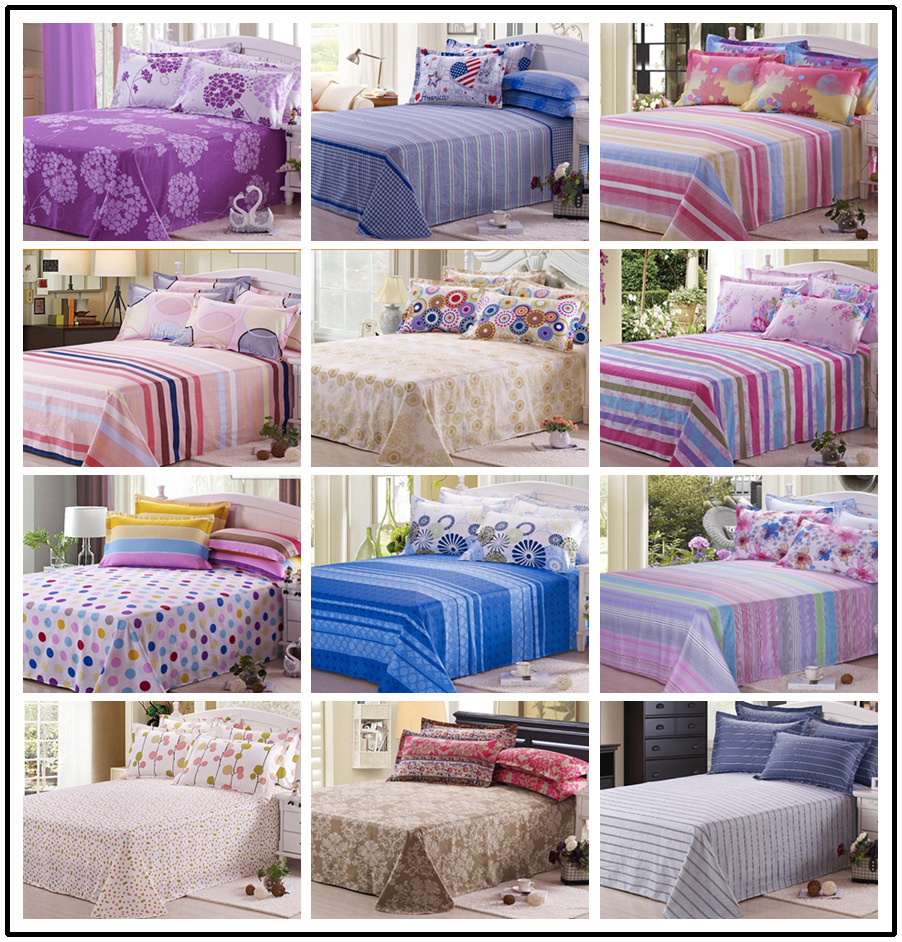 1pcs lot bed sheet flat sheets queen size full size 100 cotton sheets pure styles 4. Black Bedroom Furniture Sets. Home Design Ideas