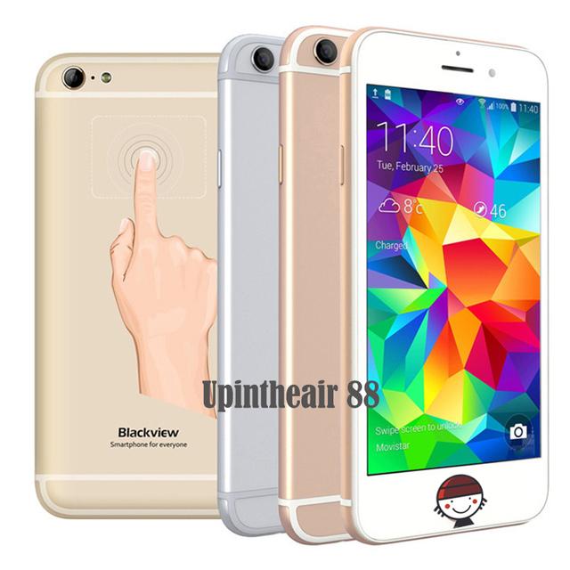 In Stock Original Blackview Ultra A6 Mobile Phone MTK6582 Quad Core 1GB RAM 8GB ROM 4.7Inch Back Touch 8.0MP CAM 2200mAh Phone