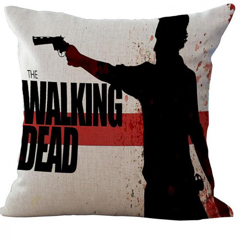 Factory Supply American Drama The Walking Dead Alive Person Linen Sofa Pillow On Car Seat Backrest Cushion Free Shipping(China (Mainland))