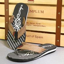 2016 top Quality Men PU Sandals Summer Slippers For Men Beach Flip Flops s Men's Popular Slides Fashion EVA Slippers
