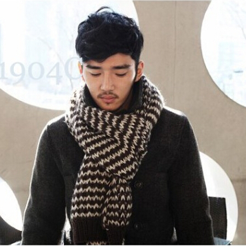 184*40cm Male Brand Casual Shawl Wrap Winter Men Wave Point Knitted Viscose Scarf Long Large Scarves Fashion - Shenzhen Sundah Tech Co., Ltd.(Craft & Gift Dept. store)