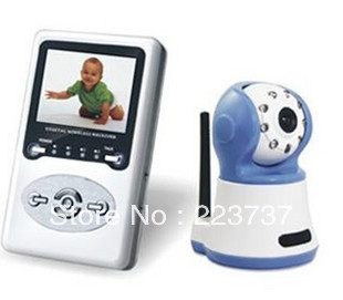 """100M distance digital signal support zoom 2-way speak and wireless kit+ wireless baby monitor Night vision with 2.4""""LCD display(China (Mainland))"""