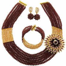 האחרון זהב סגול AB סט תכשיטים אפריקאי ערכות תכשיטי מסיבת חתונה ניגרית מסורתית 6C-SS015(China)