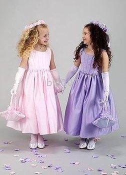 Ball Gown Scoop Floor- Length Flower Girl Dresses 2009 Style SKU510020