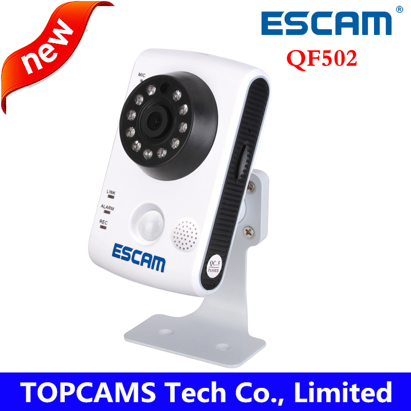 ESCAM 1MP wifi camera QF502 plug&play support two way Audio internal PIR sensor infrared camera baby care work with SOS button(China (Mainland))
