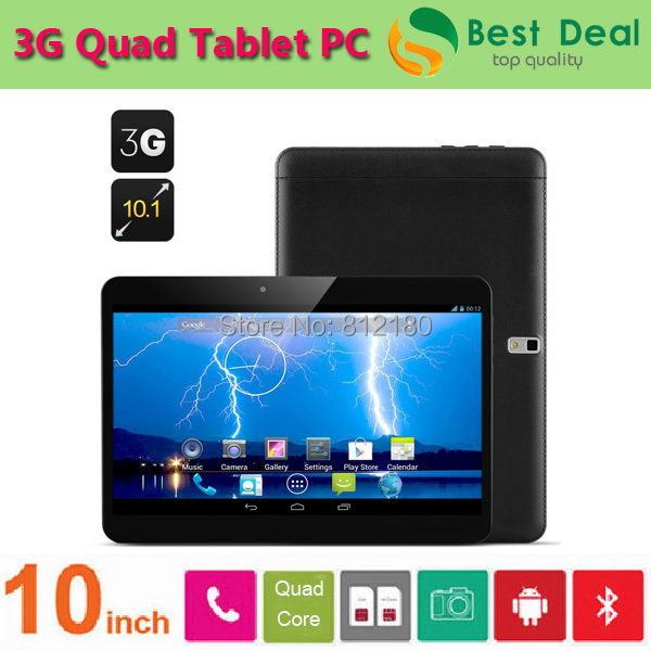 2015 New Hot Sale MTK6582 Quad Core 10 inch Tablet PC Built in 3G Phone Call Tablet 2GB/16GB GPS Bluetooth 5.0MP Dual Sim Card(China (Mainland))