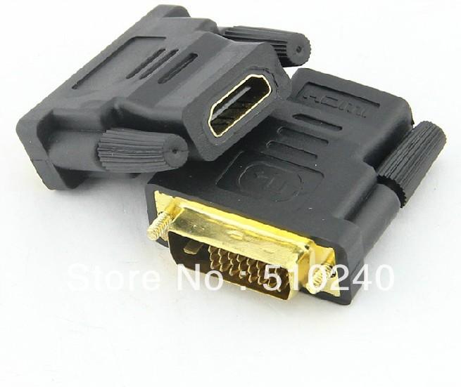 HD/DB/15 VGA/SVGA F-F/M-M Mini Gender Changer HDMI Female To (DVI-D 24+1)/(DVI-I 24+5) Dual Link Male Adapter 4-PC Set(China (Mainland))