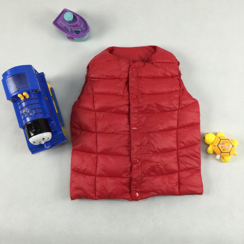 Boy's Vest Children Waistcoats Kid's Thick Girls Jacket Outfit Clothes Outwear Autumn Winter Baby Boys Garcon Warm Vest Coat(China (Mainland))