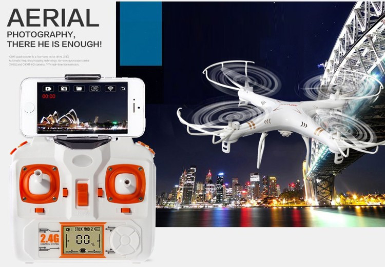 WIFI FPV X6SW RC Drone with HD Camera Real-Time Transport Video RC Helicopter Drones Quadcopter VS X5SW An Upgraded Version