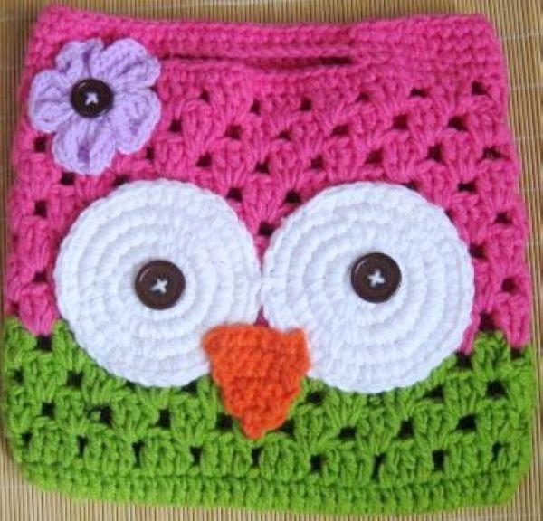 handmade crochet owl bag animal pattern -in Hats & Caps ...