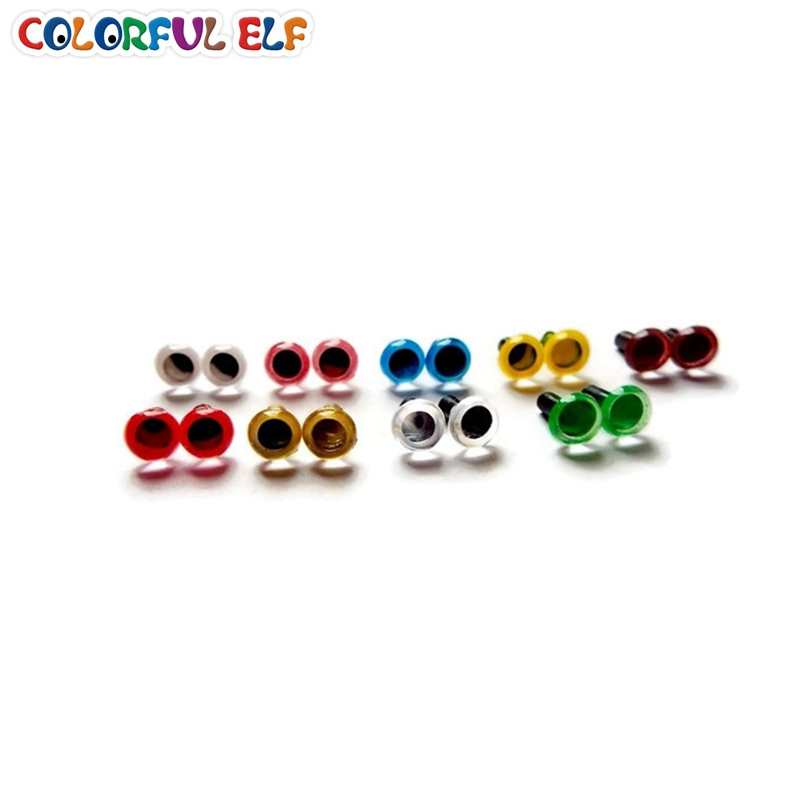 Free shipping wholesale(100pcs/lot) 6mm Plastic safety eyes for toys Multicolor plush animal eye for dolls)(China (Mainland))