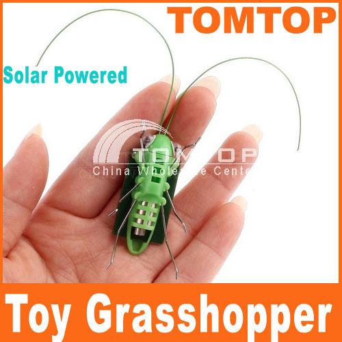 Solar Grasshopper toys for children Solar Toys game Power Energy Mini Grasshopper For Kids Fun Bug Robot Free Shipping Wholesale(China (Mainland))