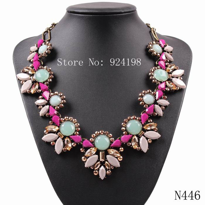 new arrival 2015 fashion vintage gold chain J design statement choker chunky pendant necklace jewelry supplies(China (Mainland))