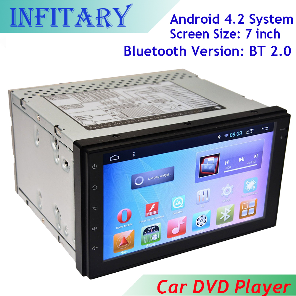 free shipping 7 Inch 2 Din Android Car DVD player Audio Stereo GPS Touch screen AM FM With Bluetooth Support SD/USB/Phone/1080P(China (Mainland))