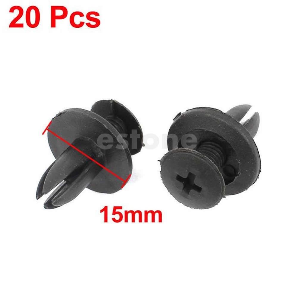 Free Shipping 20 Pcs Car Bumper Fender 6mm Hole Black Plastic Rivets Fasteners for Toyota<br><br>Aliexpress