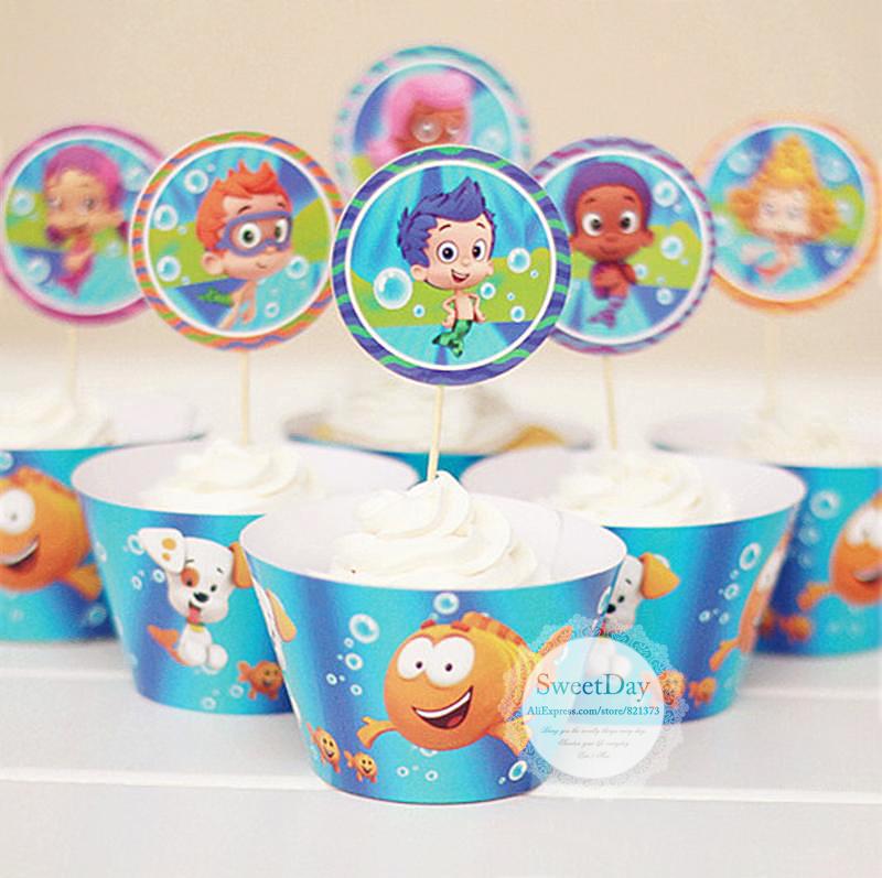 Online buy wholesale bubble guppies party decorations from china bubble guppies party - Bubble guppies party favors ideas ...