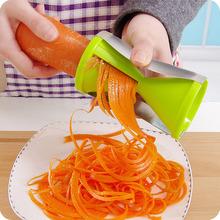 Vegetable Fruit Spiral Shred Process Device Cutter Slicer Peeler Kitchen Tool Slicer julienne cutter black/green(China (Mainland))
