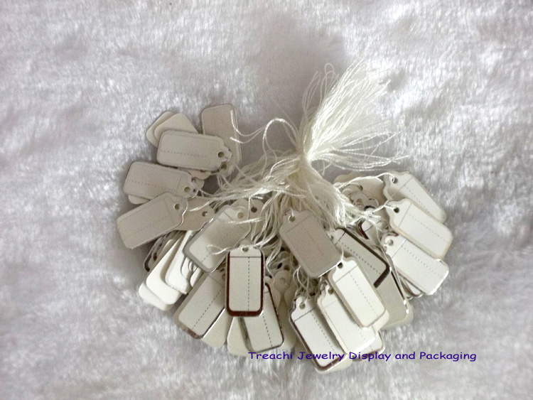 100 pcs Jewelry Strung Pricing Price Tags with String Silver Merchandise Cloth Label,FREE SHIPING(China (Mainland))