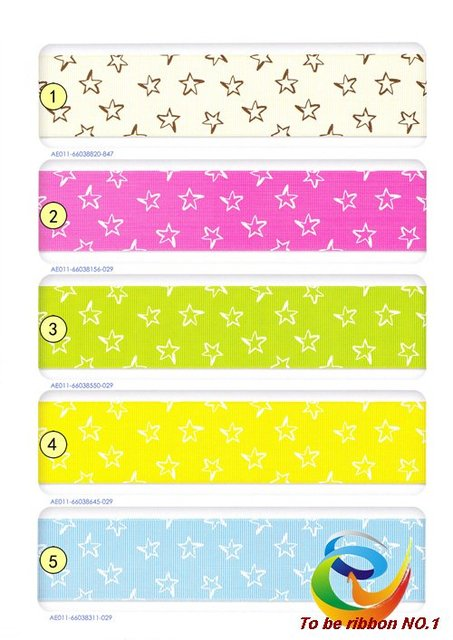 """100Ys Brand New 1-1/2""""(38mm) Baby Printed Grosgrain Ribbon~Wholesale Lovely Star Printing Hair Accessories  WY-237 Free Shipping"""