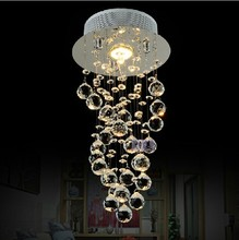 Dia.20*H40cm Dinning room mini Cheap Modern Fashion luxury ceilling hanging K9 crysta light modernled chandelier home lighting