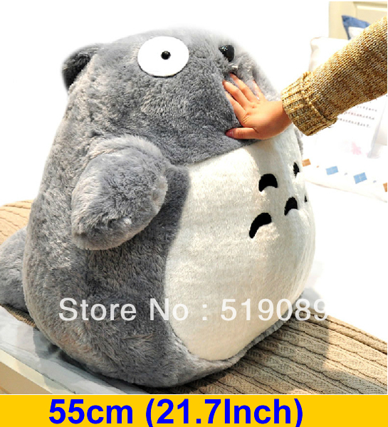 "Free Shipping 55cm(21.7"") Totoro Plush Stuffed Toys,Miyazaki Hayao My Neighbor Totoro Plush Toys For Girl Friend&Birthday Gift(China (Mainland))"