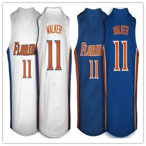 #11 Erving Walker Florida college basketball Jerseys Personalized Custom Jersey blue White Stitched Best Quality(China (Mainland))