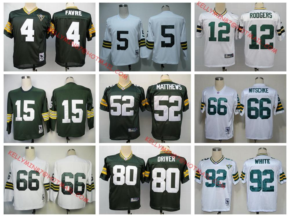 Stitiched,Green Bay Packers,Reggie White,brett favre,Bart Starr,Ray Nitschke,Aaron Rodgers,Donald Driver ,Paul Hornung,Throwback()
