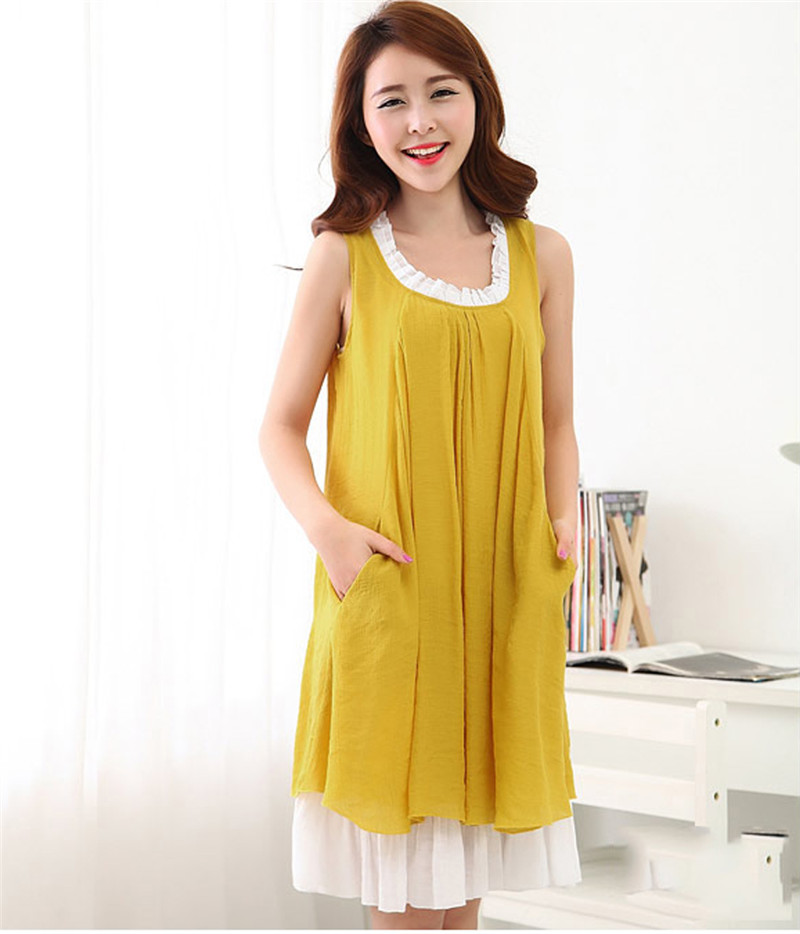 Popular KETTYMORE WOMEN THIN CHIFFON ELASTIC WAIST SHIFT DRESS WHITE - Kettymore
