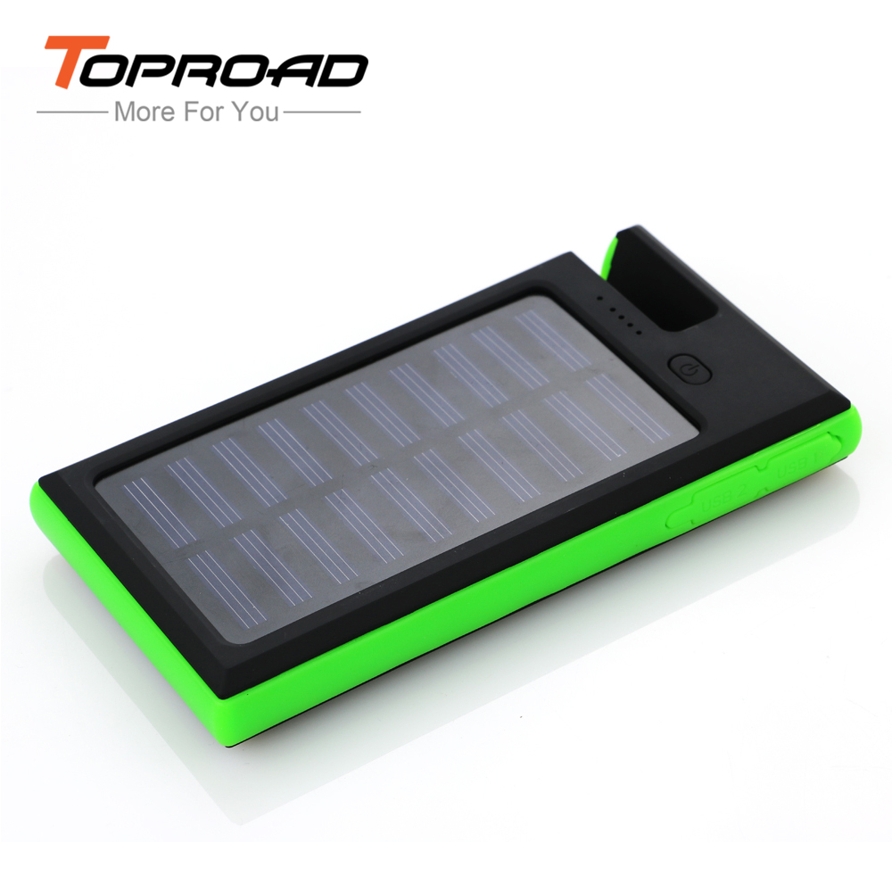 New Style Solar Power Bank 12000mAh 2USB LED Waterproof Solar Charger External Battery cargador Portable Powerbank for Cellphone(China (Mainland))