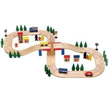 Wooden baby education used brilliant number railway puzzle toy # 2092(China (Mainland))
