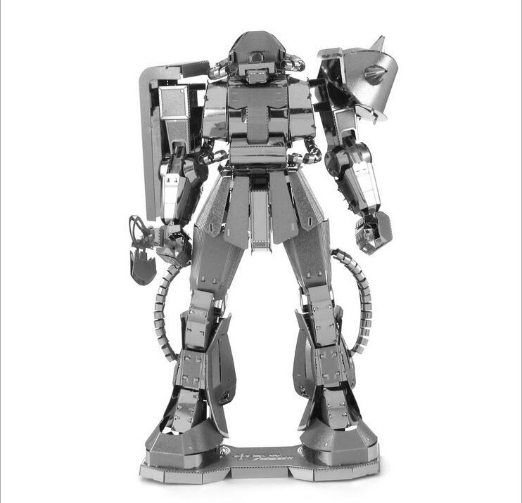 Gundam Pure metal all stainless steel up to nano assembly model MS-06 ZAKUII(China (Mainland))