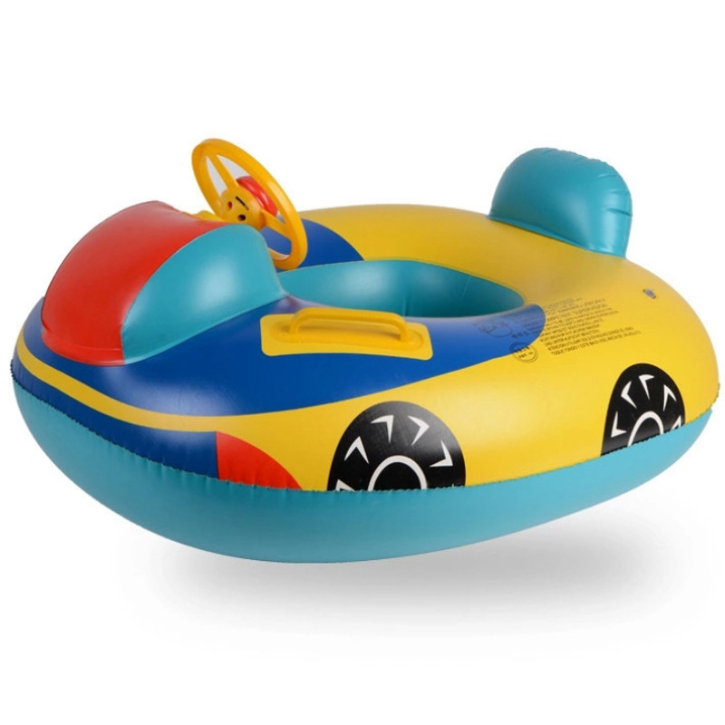 Cute Pvc Swimming Ring Seat For Children Car Vehicle Cartoon Shape Swim Pool Learning
