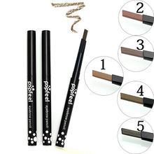 Popfeel Brand Waterproof Eyebrow Pencil Natural Brown 5 Colors Eyebrow Enancer Long-lasting Eye Brow Paint Eyebrow Pencil(China (Mainland))
