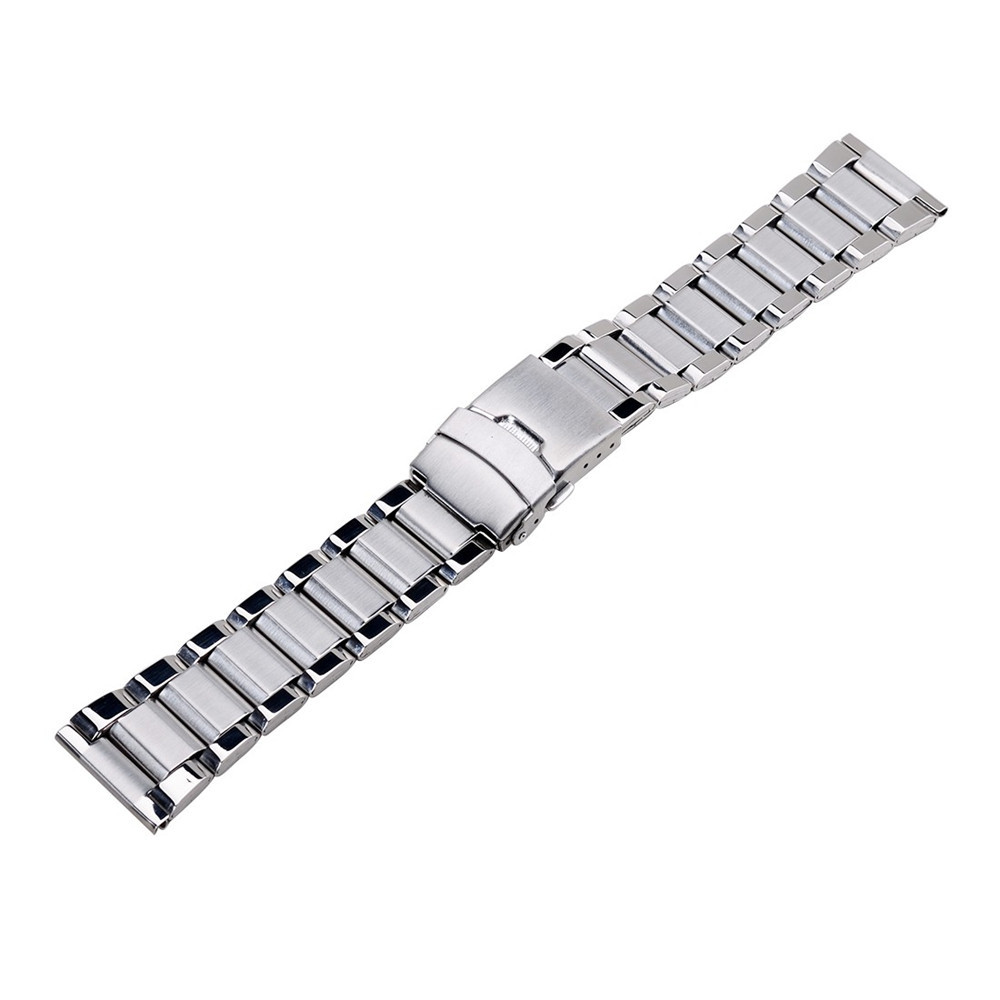 Stainless Steel Band For Hours Watches Accessories Unisex Watch Top Grade Band Double Flip Lock Button 20mm 22MM 24MM Watchband(China (Mainland))