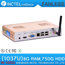 miniature desktop computers with directx11 support 8G RAM 750G HDD with Celeron C1037U 1.8GHz HD Graphics L3 2MB NM70 Chipset(China (Mainland))