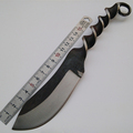 YINYUE Milling Pattern Fixed Blade Tactical Knife Hunting Straight Knife Survival Knife Nylon Sheaths