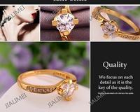 Кольцо JIALIMEI R590 QualityNickle AntiallergicNew 18 k PlatedRing R590 R591