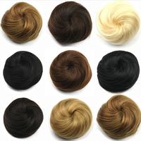 Hairpieces Wiglets Hair Chignon Bun Clip In Hair Pieces Synthetic Hair Scrunchies Bun Donut Roller Elastic Half Hairpieces