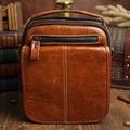 Vintage Oil wax Genuine Leather Men bag messenger Business Men s Handbag Bags Casual small shoulder