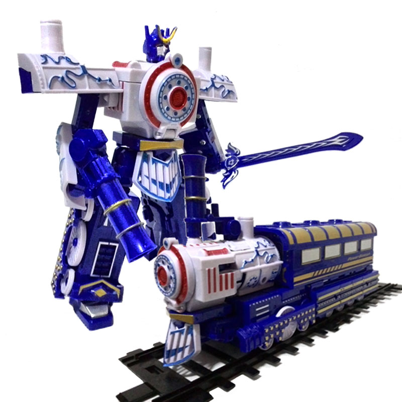 Vehicles of 3 steel giant deformation robot locomotive in the children's toys(China (Mainland))