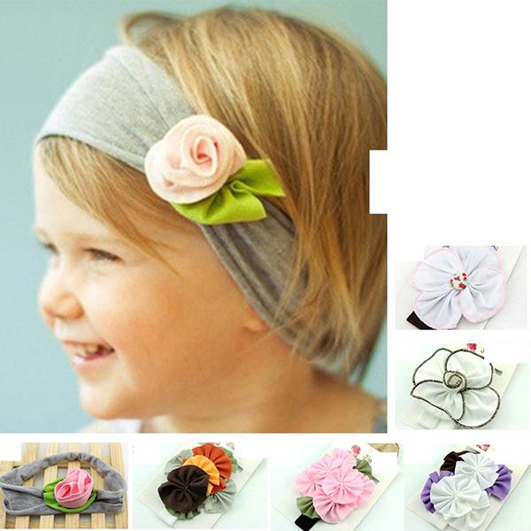 New 7 Colors Girl Stretch Cotton Headband Fashion Head Wrap Headwear Hair Accessories Headband MU678427(China (Mainland))