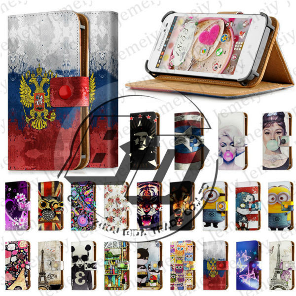 Hot New 4 5 Inch Universal Leather Folio Walelt Cover For Lenovo A516 Flip Case 4