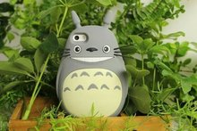 NEW 3D Japan Fashion rubber cute Cartoon Animals Totoro Protective soft silicone case cover For Iphone 4 4G 4S