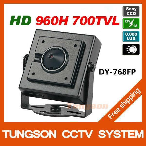 Specialty Sony 960H CCD Effio 700TVL 0.001LUX Small Mini Video Surveillance Security Micro CCTV Camera Free Shipping(China (Mainland))
