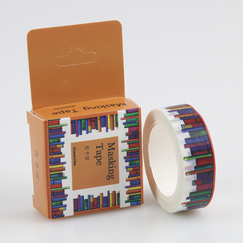 1 Pc / Pack Size 15 Mm*10m Diy Library Washi Tapes / Masking Tape / Decorative Adhesive Tapes / School Supplies(China (Mainland))