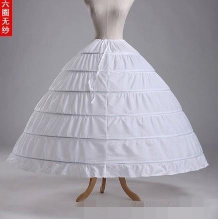 Оптовая продажа 6 обручи большой паффи кринолайн для свадебное платье принцессы белый ...